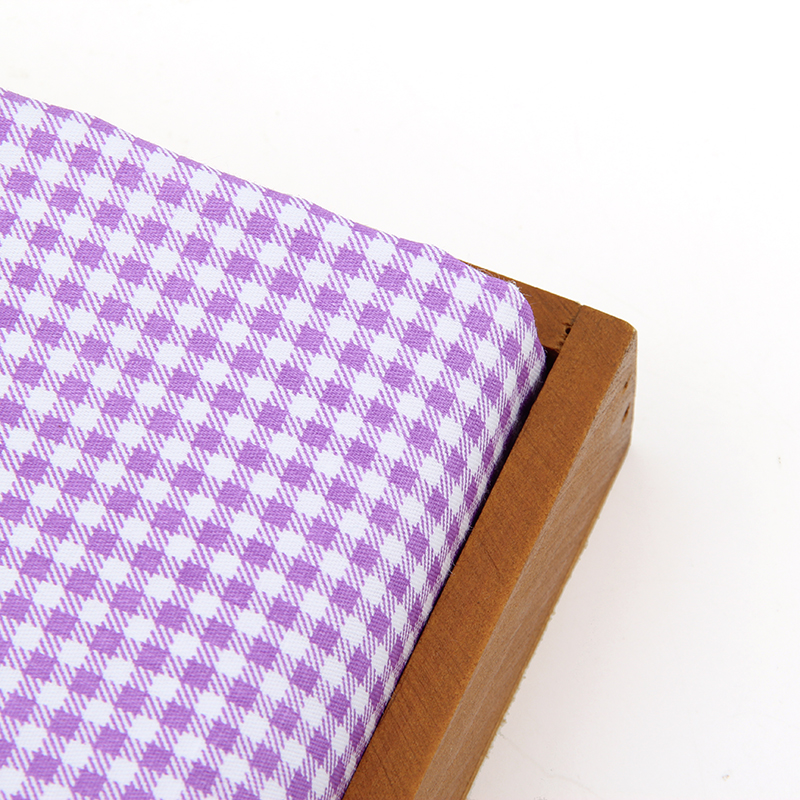 Purple Grid Printed Cotton Quilting Fabric Meter Textile Sewing ...