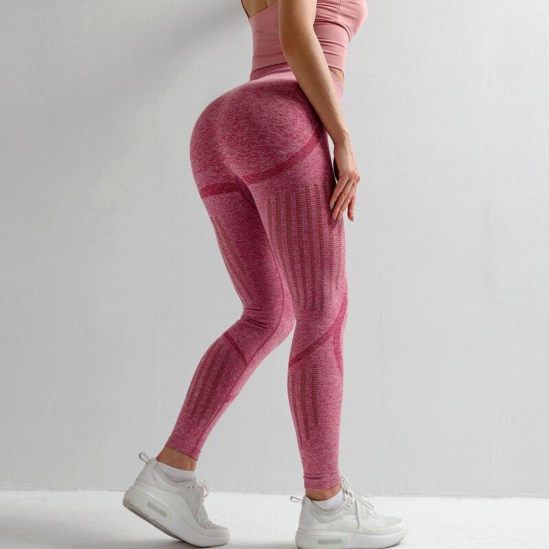 <+>  Бесшовные животик йога штаны эластичные талии компрессионные колготки спортивные штаны пуш-ап бега ж ✔