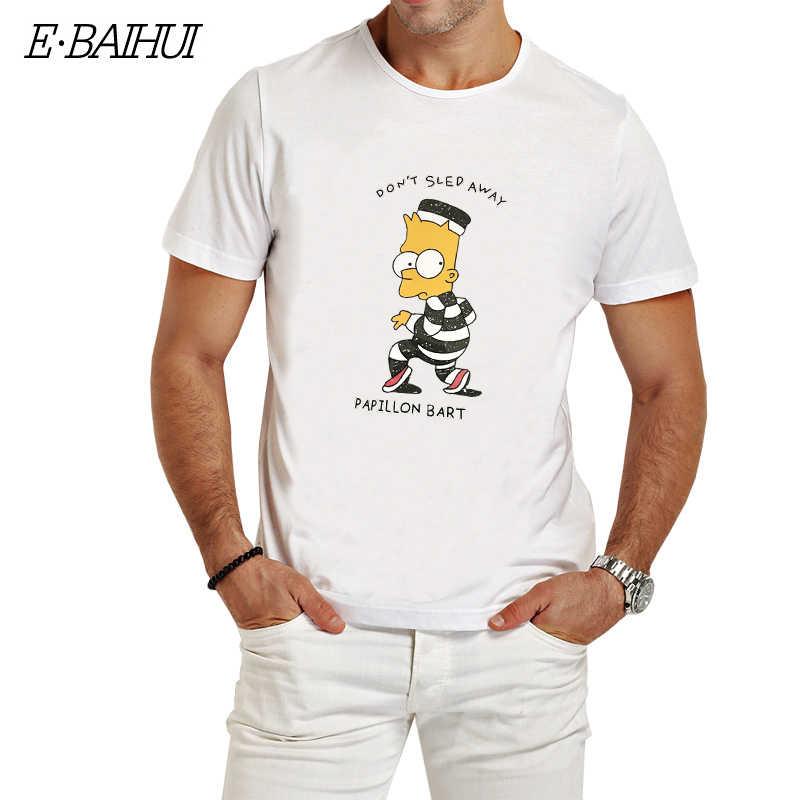 64d989b8f62 E-BAIHUI Новая мода не сажают печать Барт Футболка мужская 100% хлопок  Повседневная футболка