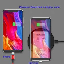 3in1 Dual Mode Type C Qi Wireless Charging Receiver+Magnetic USB Cable+Micro Connector Charger Kit for Samsung Huawei Xiaomi