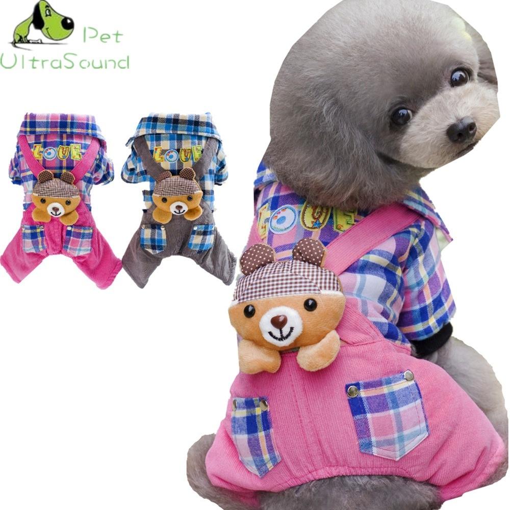 ULTRASOUND PET kockás kutya ruhák Négy lábú kabát teddy - Pet termékek