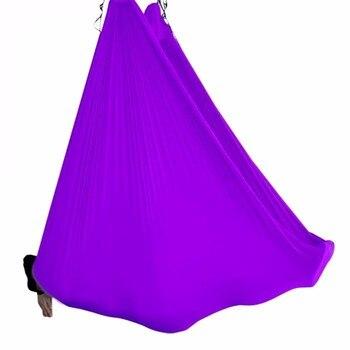 Drop Shipping 5*2.8M Yoga hammock swing fabric Aerial Traction Flight Anti-gravity Length customization yoga belt of yoga hall