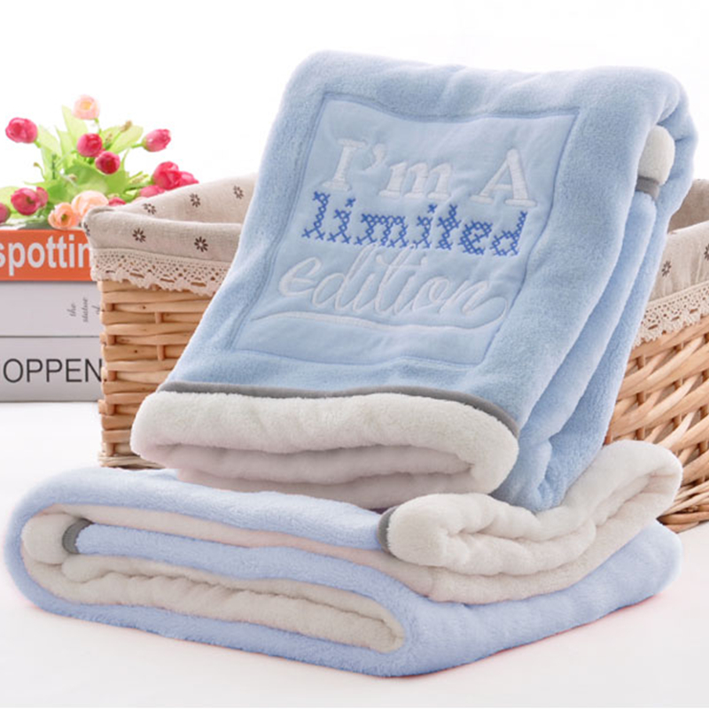 High Quality Baby Blanket Thermal Fleece Cobertor Infantil Swaddle Nap Receiving Stroller Wrap Newborn Baby Bedding Bebe Blanket