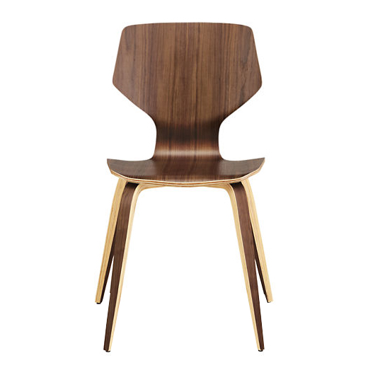 Nordic dining chair modern minimalist home solid wood back curved wooden chair cafe desi ...