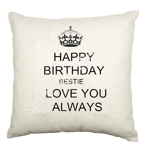 best friend birthday cushion cover velvet happy birthday bestie