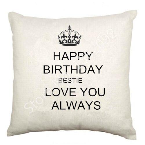 Bester Freund Geburtstag Kissenbezug Samt Happy Birthday Bestie ...