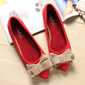 Size 33-40 Popular Casual Shoes Pointed Toe Women Flats Shoes With Bow Suede Ladies Party Wedding Shoes zapatos mujer
