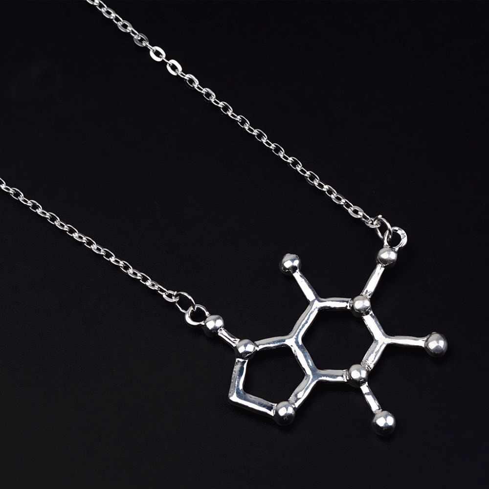 JUCHAO Dopamine молекула ожерелье химическая формула ожерелье гормон молекулы серотонина 5-ht кулон ожерелье медсестры ювелирные изделия