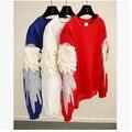 Fether крылья рукавом толстовка женщины вышивка толстовки для мужчин и женщин unix толстовка
