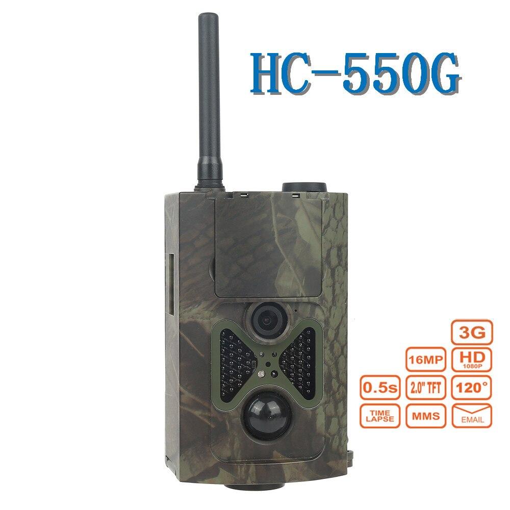 SkatollyHC550G Hunting Trail Camera 3G HD 16MP CMOS 1080P Video Night Vision MMS GPRS Scouting Infrared Game Hunter Cam free shipping hc600g scouting hunting camera trap 16mp hd 1080p gprs mms 3g digital infrared trail cameras ir hunter camcorder