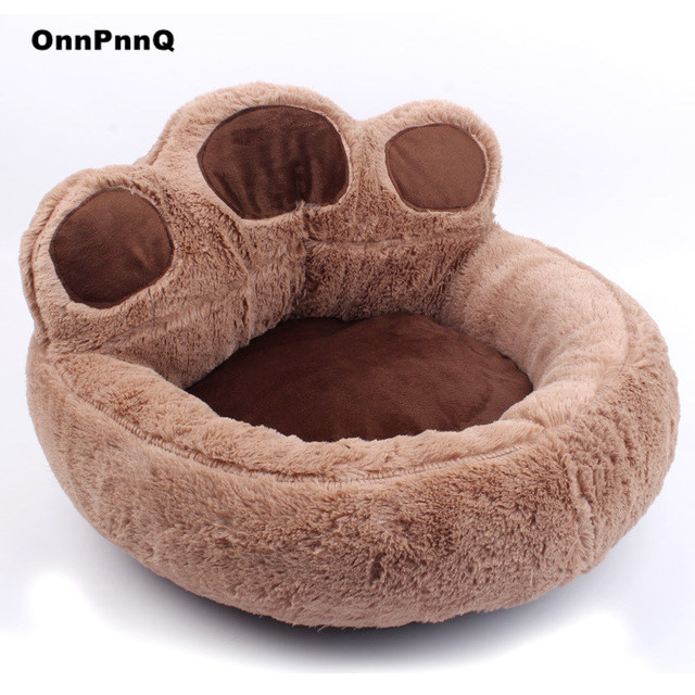 Bear paw fleece winter warm dog puppy soft pad bed house nest washable small dog pet cat mat cushion kennels
