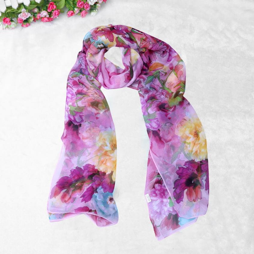 Snowshine4  4033 De Mode Chinois de style de Madame Long Wrap Femmes Châle  En Mousseline de Soie Écharpe Foulards eea051ae1b4