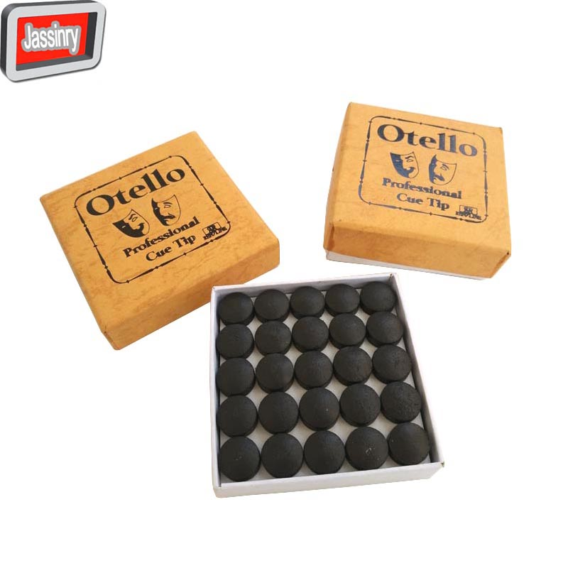 free shipping 50pcs 13 14mm professional Billiard cue tips Wholesale Coffee cowhide Pool cue stick tips
