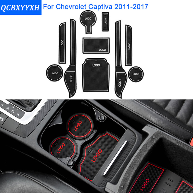 10pcsset For Chevrolet Captiva 2011 2017 Car Styling Slot Pad