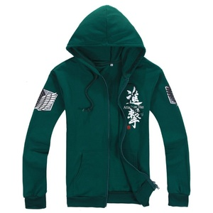 Image 1 - Best Sellers Anime Attack on Titan Cosplay Costumes Hoodie Green Black Scouting Legion Hooded Sweater for Unisex