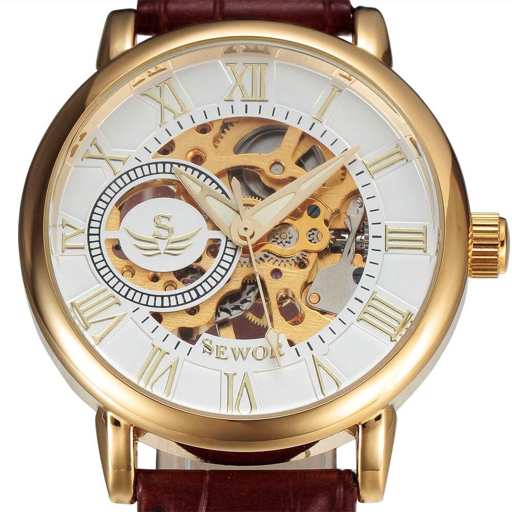 SEWOR 3d лого дизайн куха гравиране черен - Мъжки часовници - Снимка 1
