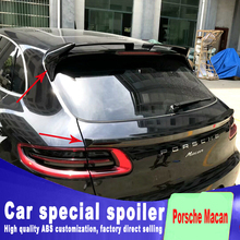 2 pcs rear trunk and window wing tail spoiler for  2014 2015 2016 Porsche Macan ABS high quality High hardness DIY paint
