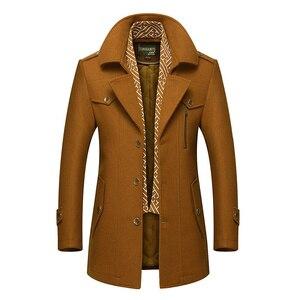 Image 4 - BOLUBAO hommes hiver laine manteau 2019 hommes nouvelle décontracté couleur unie laine mélanges laine caban mâle Trench manteau pardessus