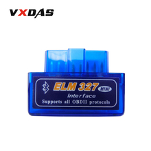 ElM327 V2.1 car-detector mini elm 327 bluetooth obd2 for Android Torque elm 327 obd2 auto code scanner OBDII Car diagnostic-tool