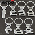 Ace speed-Aluminum 3D numbers 1/3/5/6/7/8/x car logo key ring chain keyring keychain for BMW