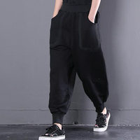 Fashion Loose Pants Women Convergent Baggy pants patchwork Girl Miss Elastic Waist Casual pants female Trousers Bottoms