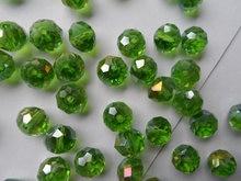 Оптовая продажа с фабрики ювелирных изделий 10 мм Зеленые хрустальные