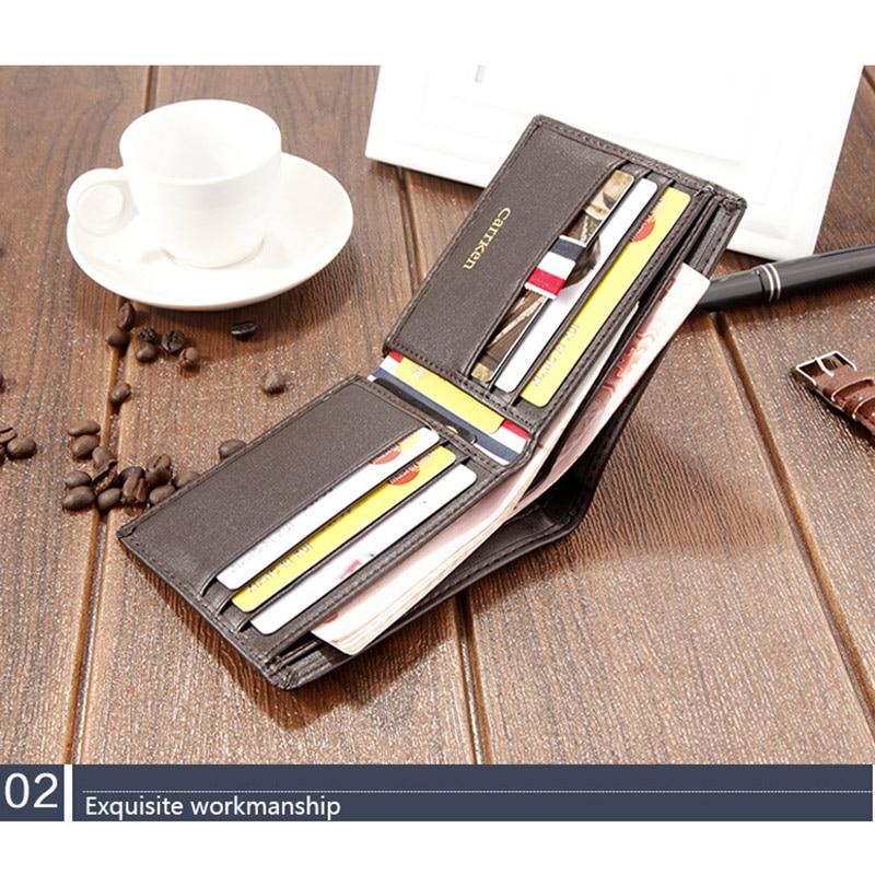 Short Wallet Purse Credit-Card-Holder Hand-Holding Organizer-Opk Multi-Card Men Ultra-Thin
