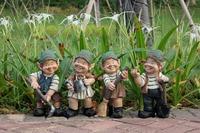 A series of 12 elves 30 x 13cm etc. garden decor dwarfs elves decoration ornaments sculpture design garden Figurine Resin