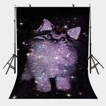 150x210cm Diamond Star on Black Backdrop Photography Backgroud for Camera Photo Props