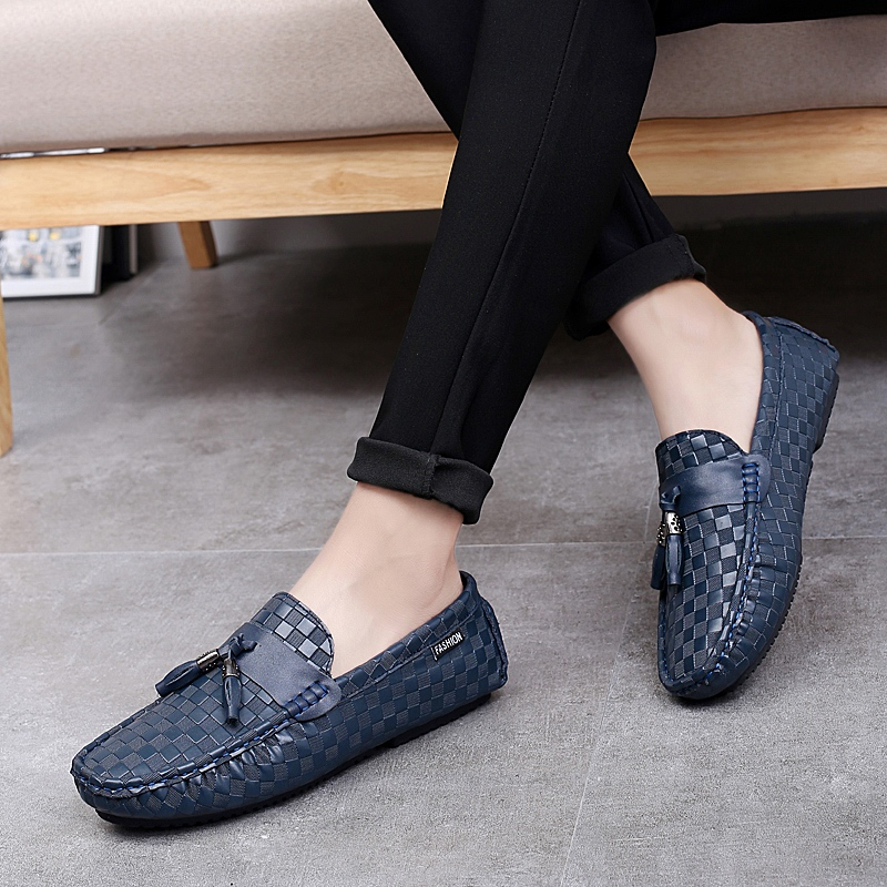 Mocassin Des Homme Luxe Northmarch Sur bleu En Hommes Mocassins Cuir Léger Chaussures Noir Glissement Glands Marque Véritable Casual n7qUA760