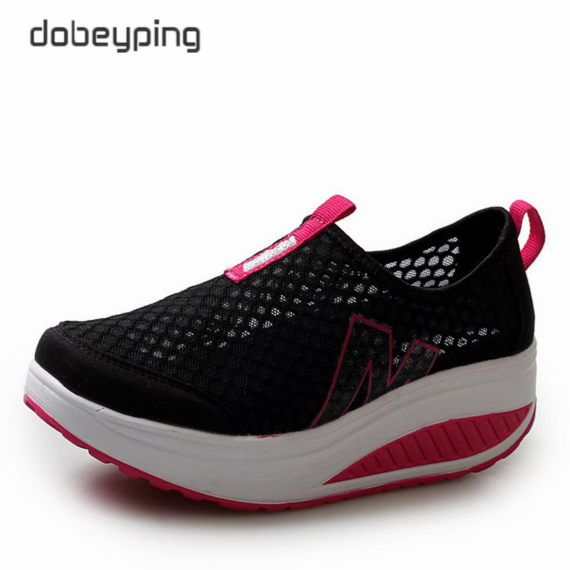 New Summer Shoes Women Breathable Air Mesh Woman Loafers Platforms Female Flats Shoe Casual Wedges Ladies Footwear Driving Shoes hot new 2016 fashion high heeled women casual shoes breathable air mesh outdoor walking sport woman shoes zapatillas mujer 35 40
