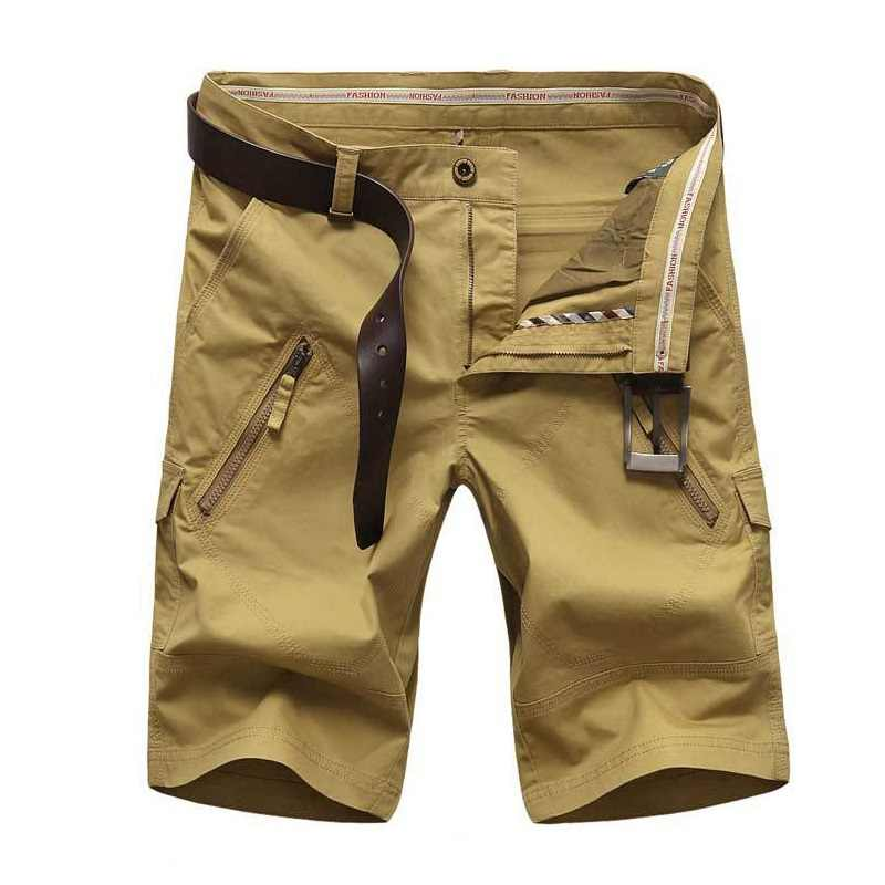 2577be5247f Cargo Short Men Summer Men's Shorts Bermudas Masculina de Marca Straight  Pockets Men's Breeches Short Homme