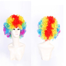Halloween Disco Clown Curly Afro Circus Fancy Dress Hair Wigs Xmas Party Costume Props Free Shipping