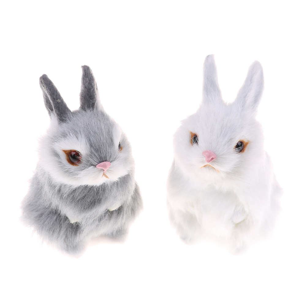 1PCS Simulation Mini Pocket Toy Cute Artificial Animal Small Rabbit Plush Toys With A Frame Kids Toys Decorations Birthday Gift