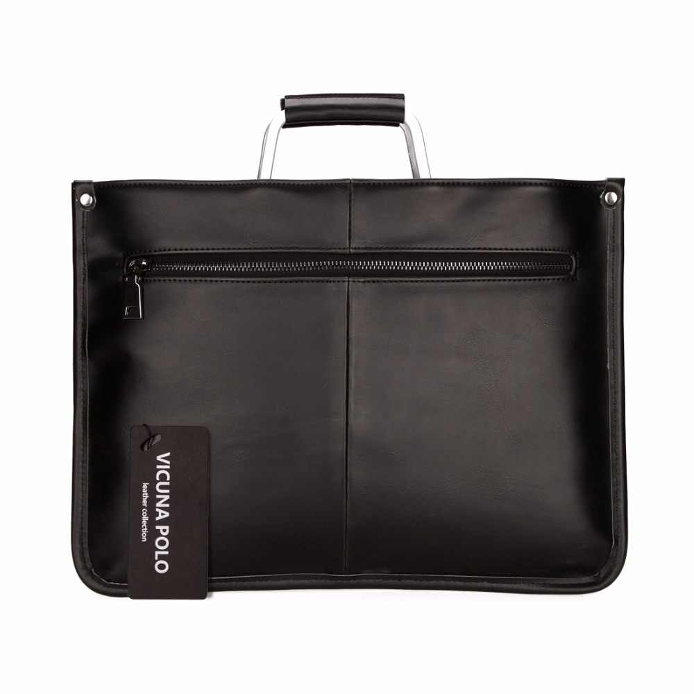 4579658edfd3 ... VICUNA POLO Simple Design Leather Men Briefcase With Metal Handle  Business Men Document Bag Classic Office ...