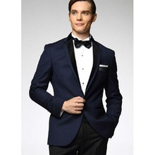 Notch Lapel Navy blue terno masculino Groom mens suit Tuxedos Wedding Blazer Suits for men 2017 new costume homme (Jacket+Pants)