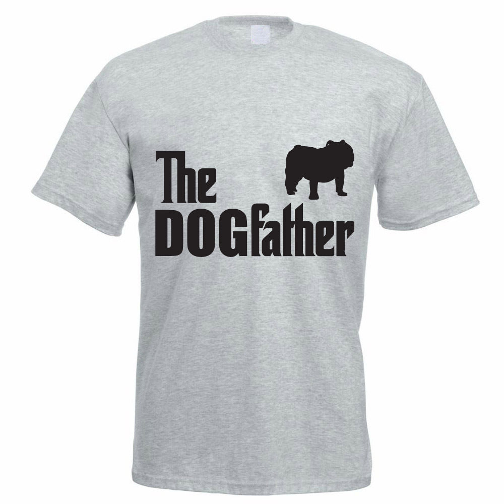 Black t shirt online design - T Shirt Design Online O Neck Short The Dogfather Bulldog English Bulldog Dog Funny Gift