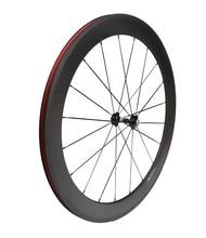 bicycle Ultra Light carbon wheels 60mm clincher carbon bike road wheelset NOVATEC Hubs 2pcs
