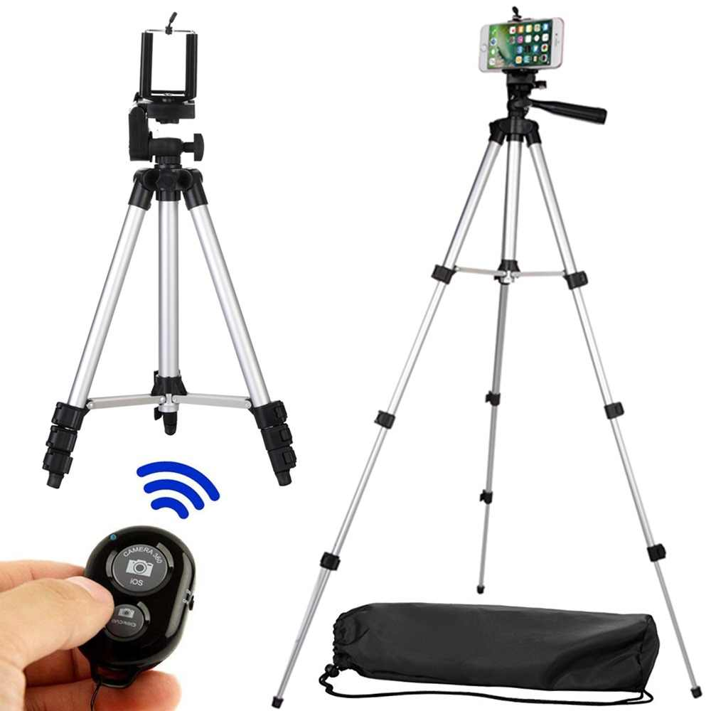 Long tripod Bluetooth Remote Control Self-Timer Camera Shutter Clip Holder Tripod Sets Kit Gift For phone Stand holder