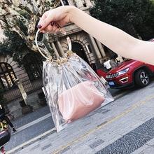 Summer Transparent Jelly Bag Tote Crossbody Bags Women 2019 PVC Luxury Handbags Designer Ladies Handbag Beach Clear Shoulder Bag все цены