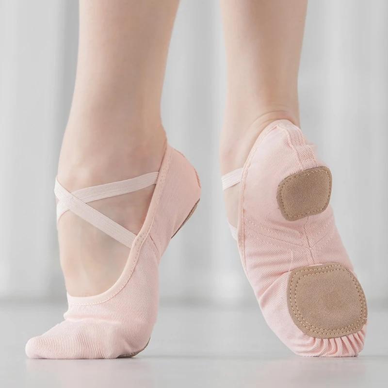 Girls Women Ballet Pointe Shoes Dance Slipper Flats Ballerina Slippers Dancewear