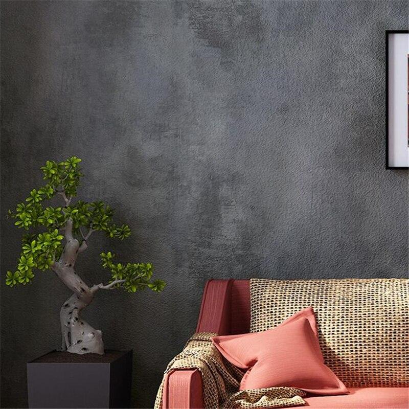 beibehang papel de parede American vintage gray cement wallpaper plain living room bar cafe background industrial wind wallpaper