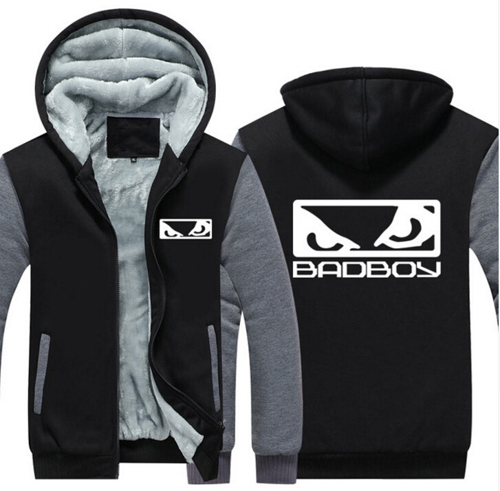 NEW USA Size MMA Badboy Bad Boy Unisex Hoodie Coat Winter Fleece Thicken Sweatshirts Jacket