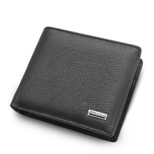 New Leather Men Wallet Brand Luxury Leather Wallets Office Male Wallet Mature Man Bifold Wallet Small Purse