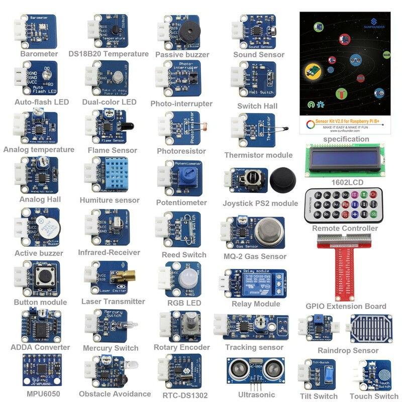 Raspberry Pi 3 Module B font b Sensor b font Kit 37 Modules in 1 Professional