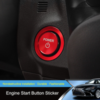 QHCP 2Pcs Aluminum Alloy Engine Start Button Power Sticker Case Stop Switch Covers Decoration Ring For Lexus ES200 260 300H 2018