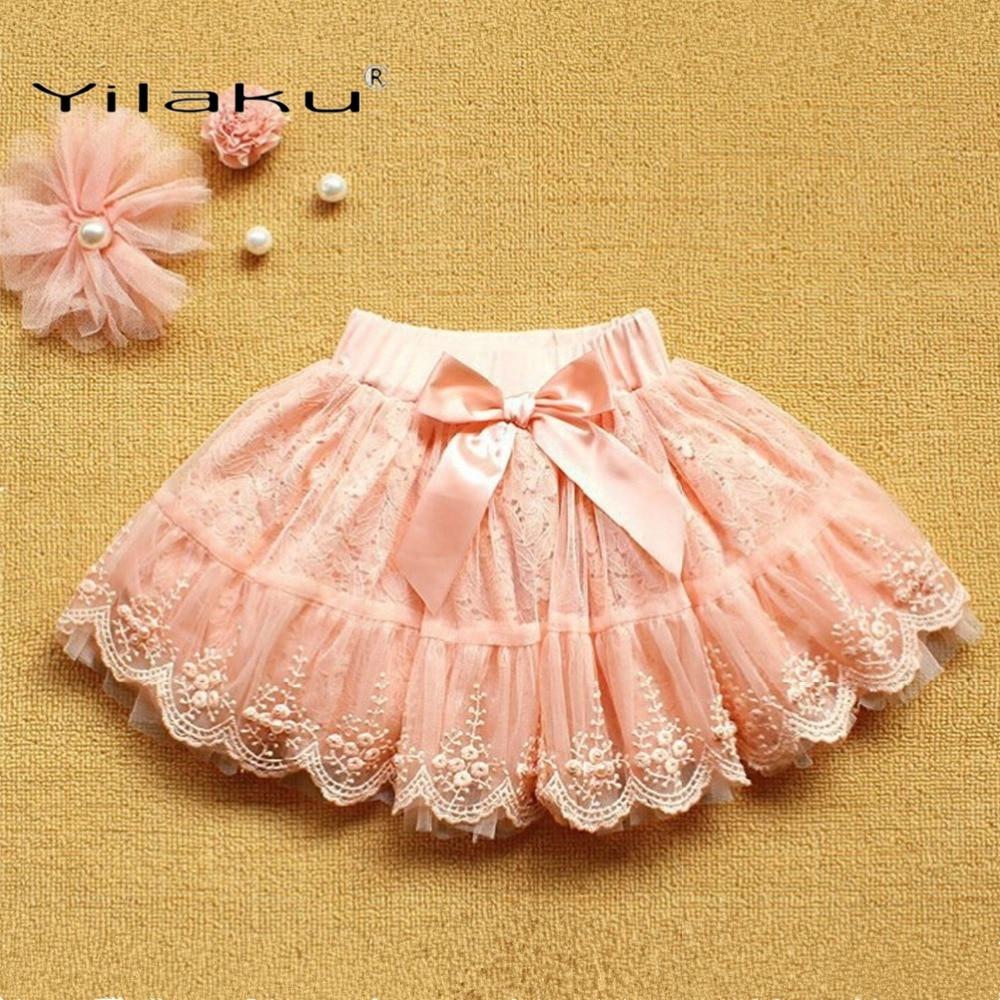 Yilaku Dziewczyny Spódnice Moda Koronkowa Spódnica Dla Dziewczyn - Ubrania dziecięce - Zdjęcie 3