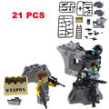 21pcs/Lot Military Swat Police 95 GUN Third-party Moc Military Weapon Pack For City Police Brick Arms Figures Building Blocks