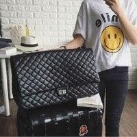 Caker 2017 נשים שקית כסף הקיץ גדול תיק PU כתף שקיות שליח מקסי שחור לבן באיכות גבוהה תיקי נסיעות Chian שקיות
