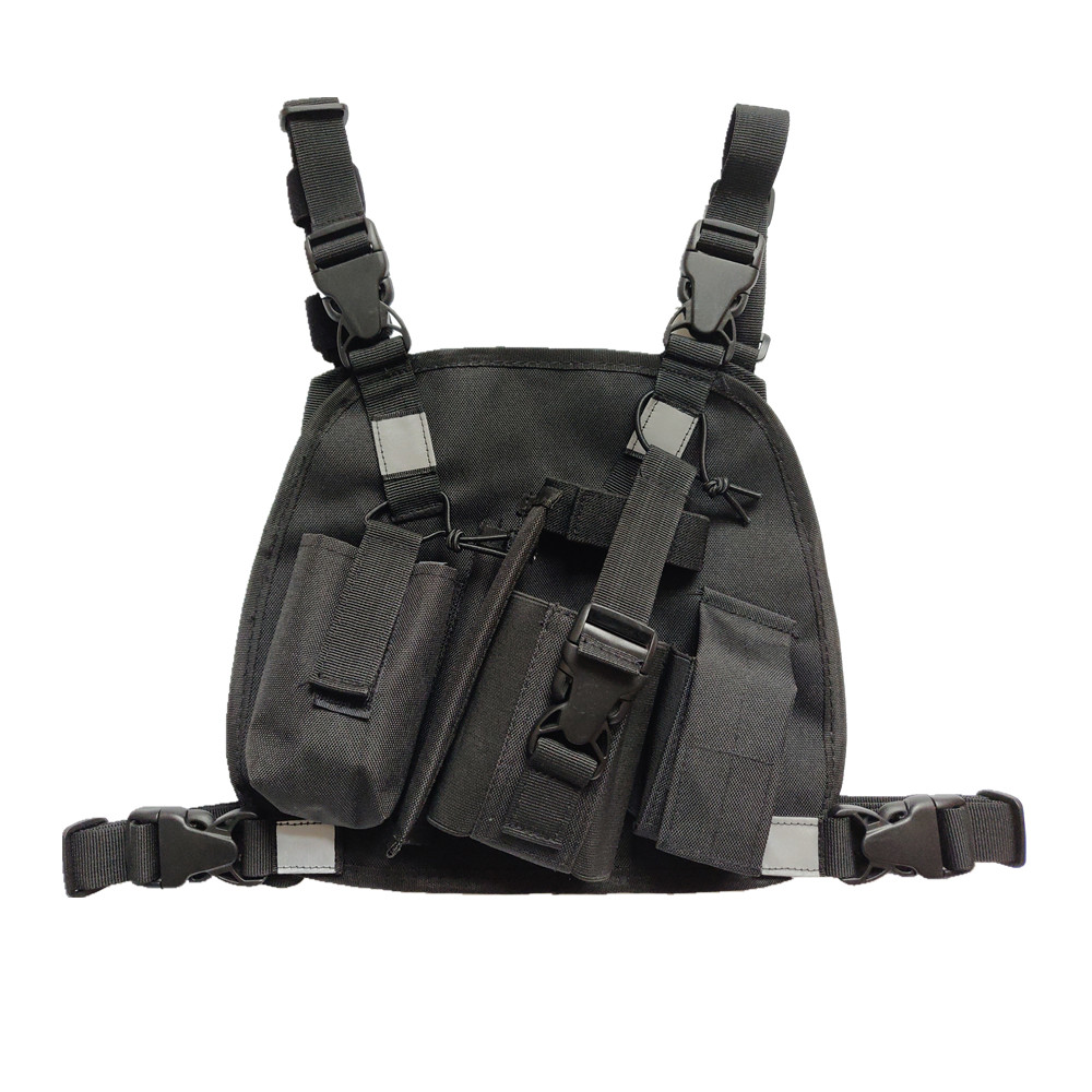 Outdoor Rescue Radio Harness Chest Front Pack Pouch Holster Vest bag for Search And Rescue Station Walkie Talkie